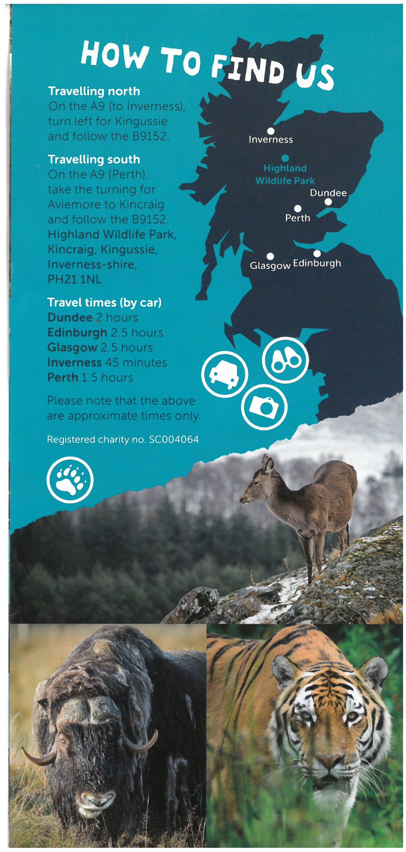Highland Wildlife Park brochure thumbnail