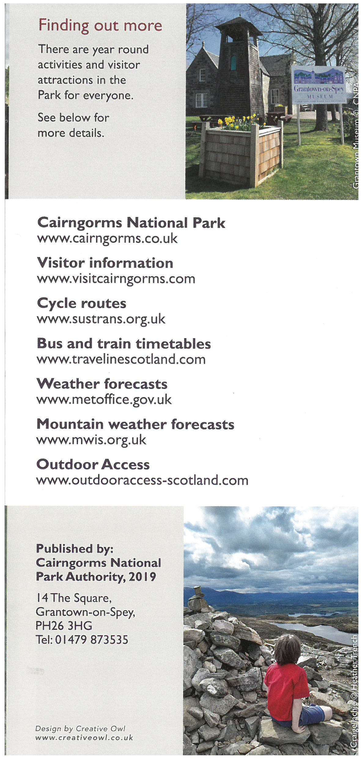 Cairngorms National Park - Welcome Map brochure thumbnail