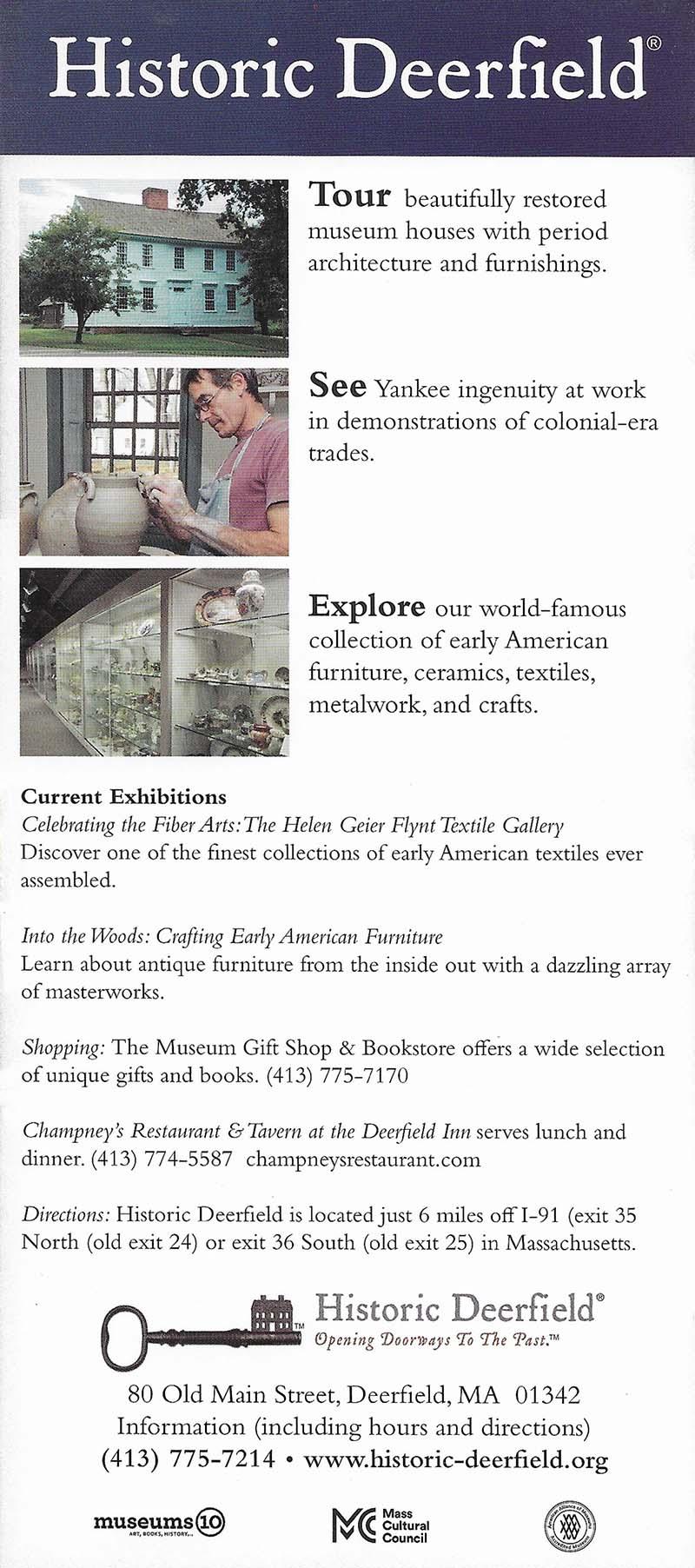 Historic Deerfield brochure thumbnail