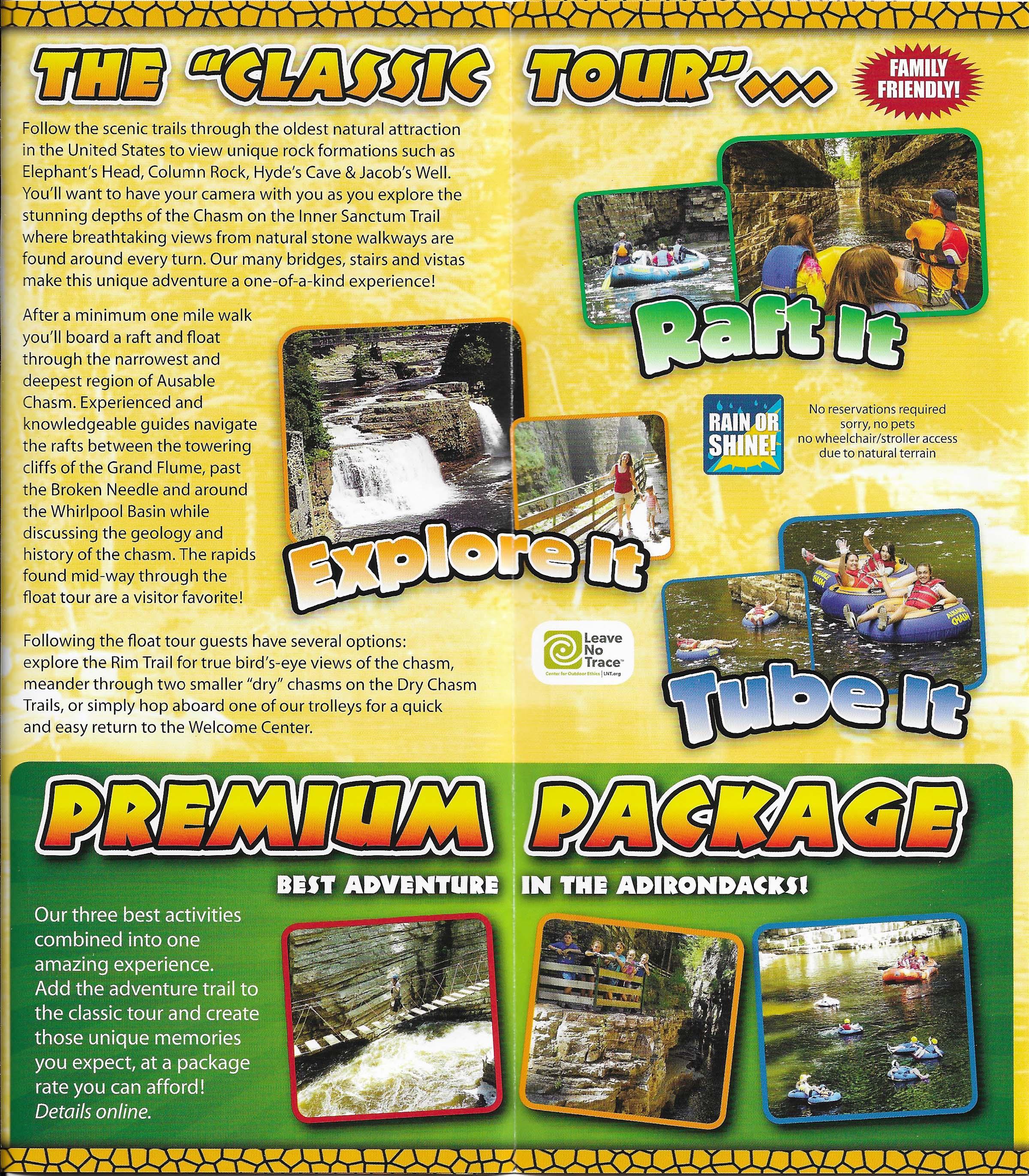 Ausable Chasm brochure thumbnail