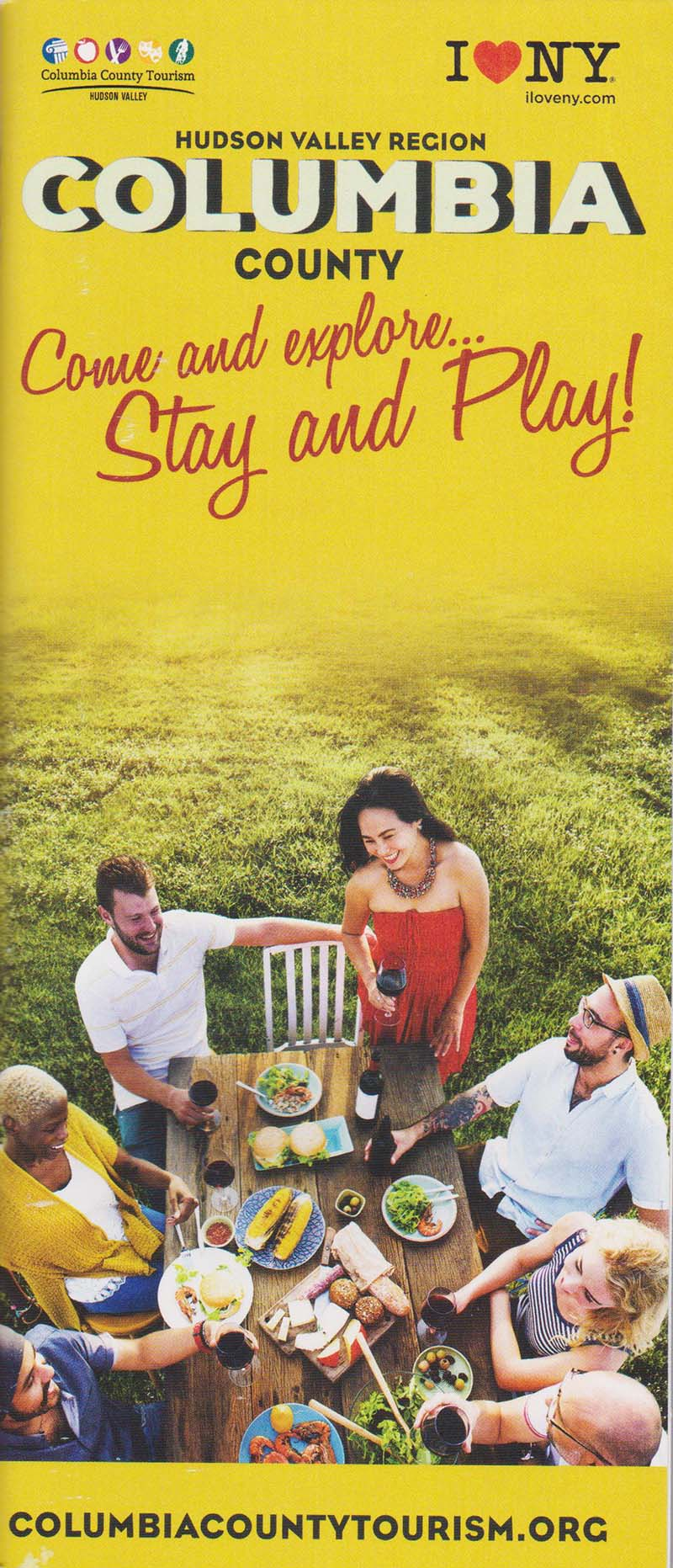 Columbia County Visitors & Dining & Fun Guide Front Brochure Cover