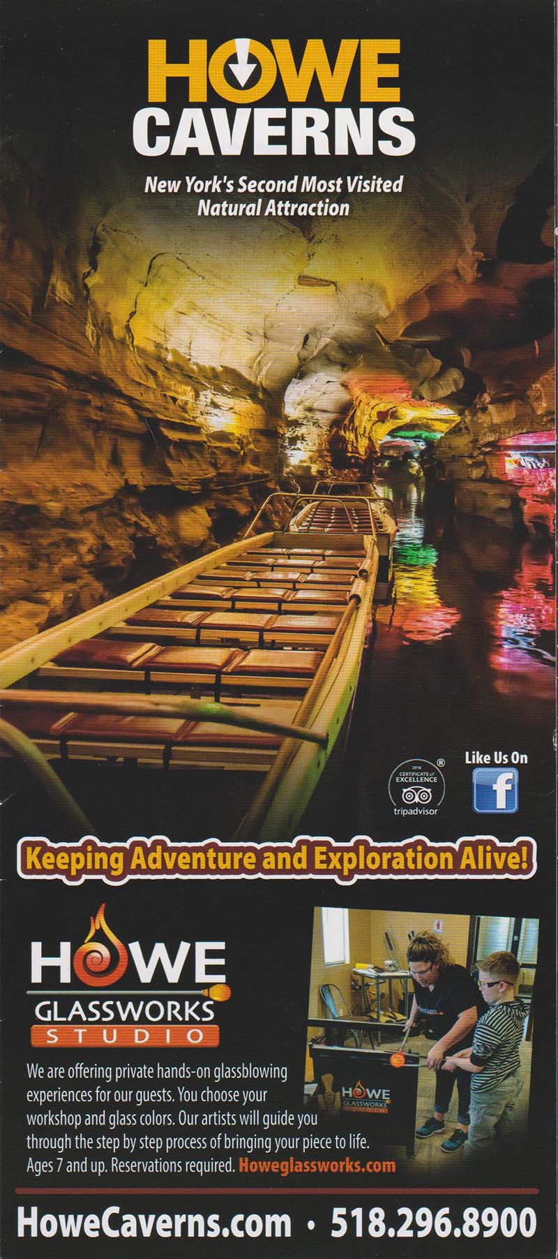 Howe Caverns Front Brochure Cover