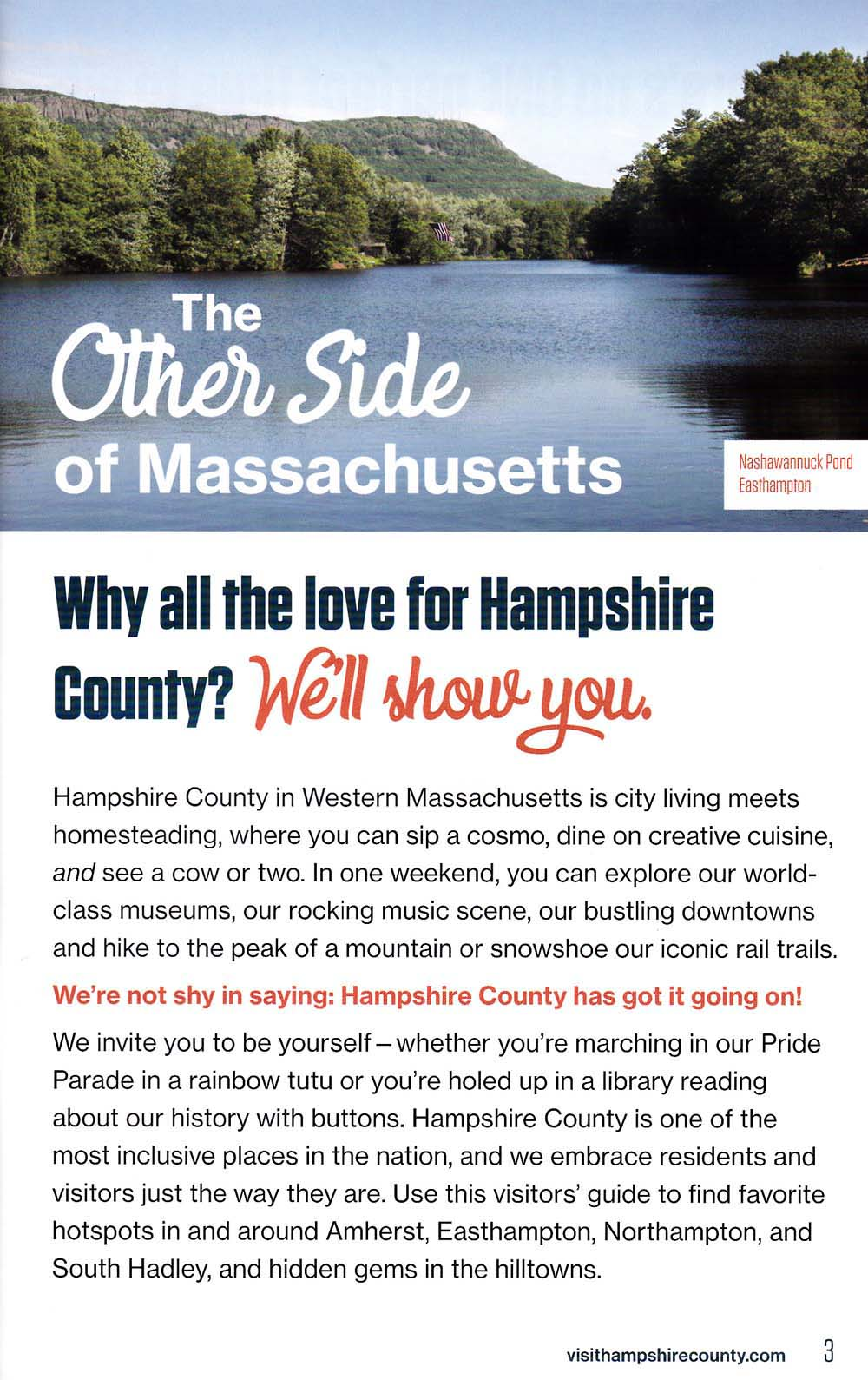 Hampshire County Regional Tourism Council Back Brochure Cover