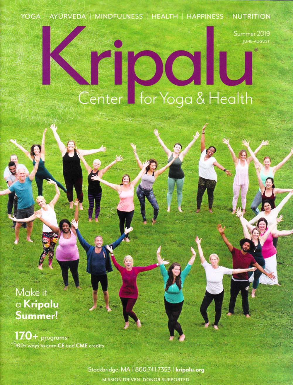 Kripalu Center for Yoga & Health Front Brochure Cover