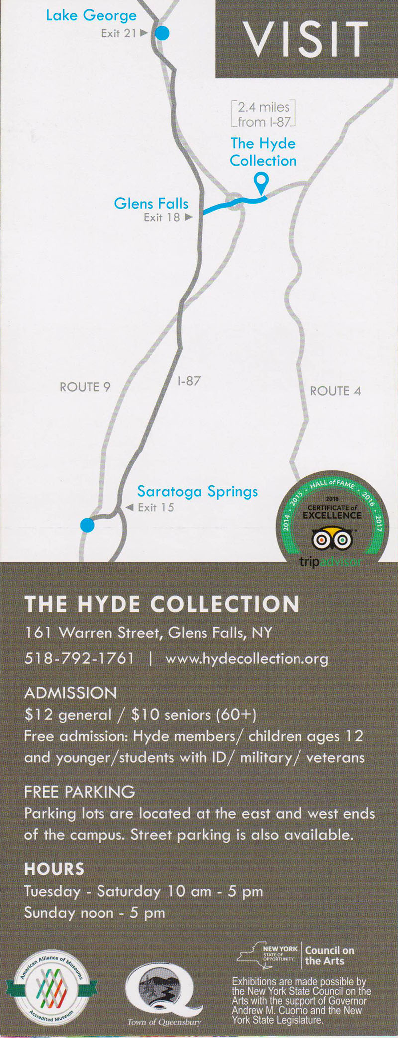 Hyde Collection Back Brochure Cover