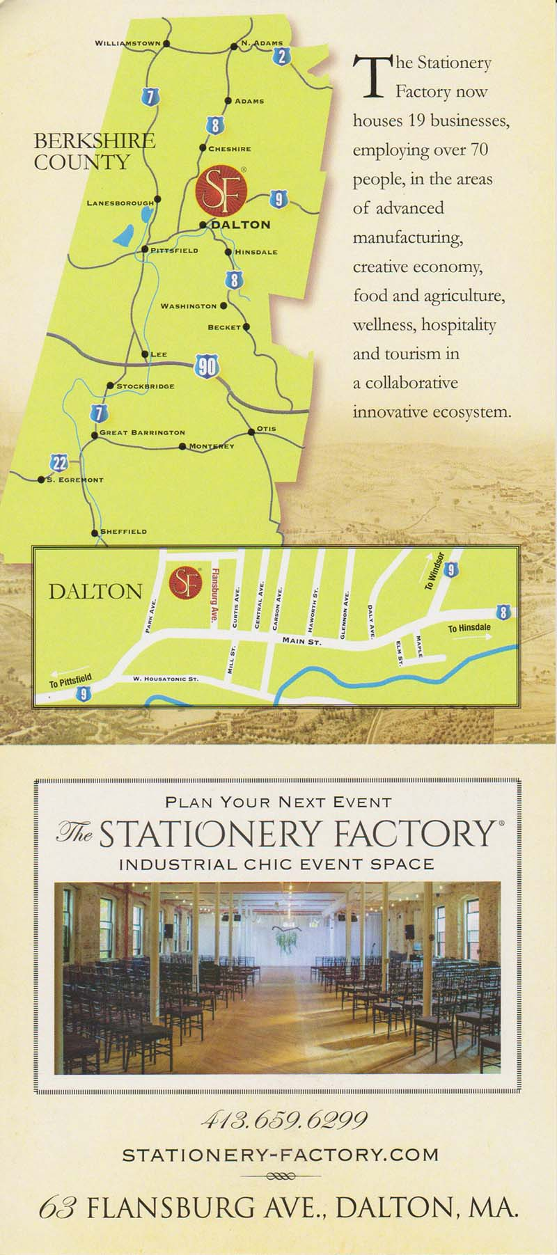 Stationery Factory Back Brochure Cover