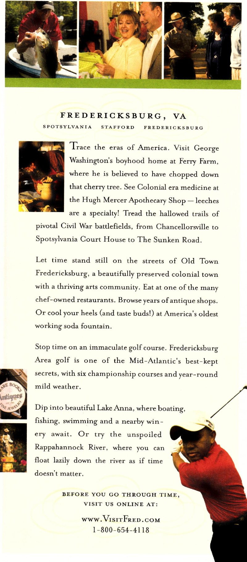 Fredericksburg  Back Brochure Cover