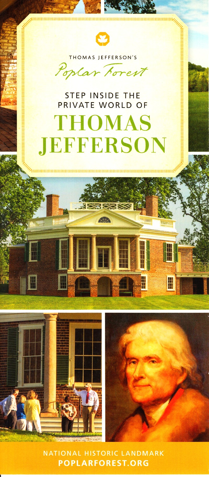 Thomas Jefferson's Poplar Forest Front Brochure Cover