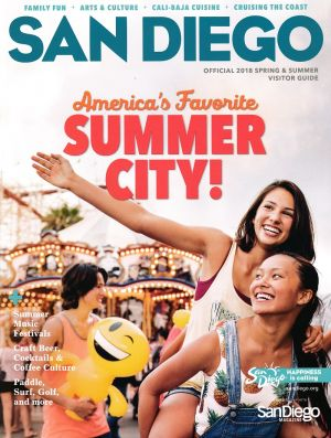 San Diego Official Visitors Guide Front Brochure Cover