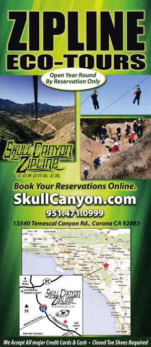 Skull Canyon Zip Line Front Brochure Cover