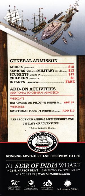 Maritime Museum of San Diego Back Brochure Cover