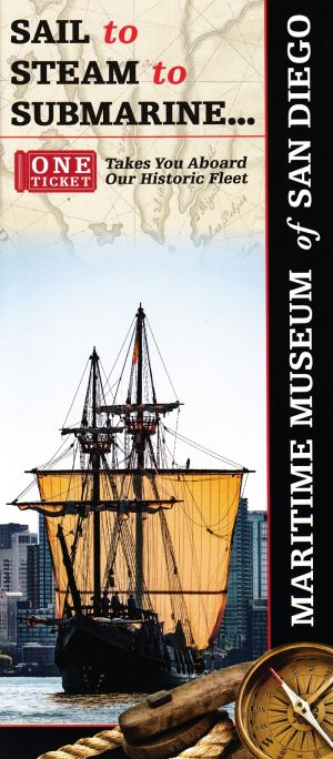 Maritime Museum of San Diego Front Brochure Cover