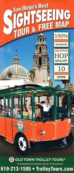 Old Town Trolley Tours Map Front Brochure Cover