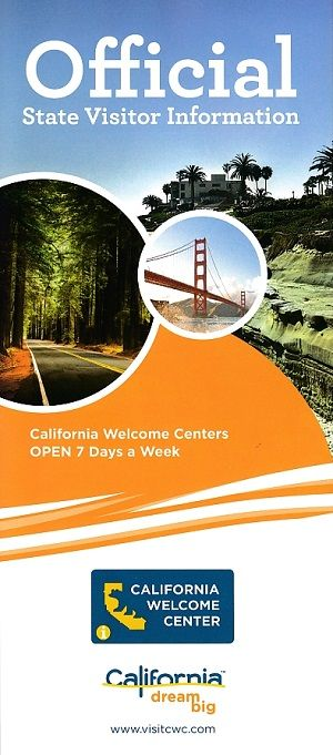 California Welcome Centers Front Brochure Cover