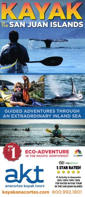 Anacortes Kayak Tours Front Brochure Cover