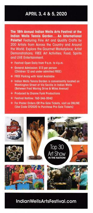 Indian Wells Arts Festival brochure thumbnail