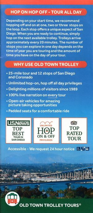 Old Trolley Tours Free Map brochure thumbnail