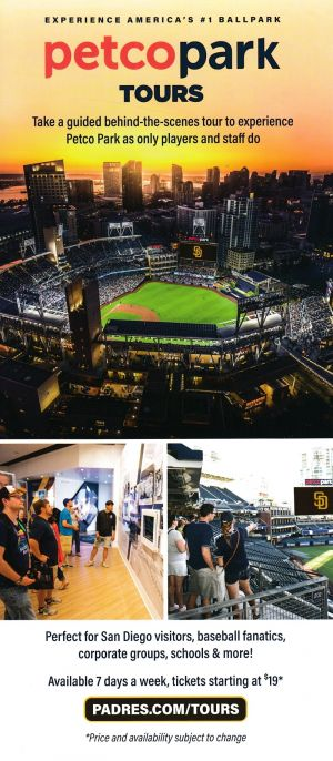 San Diego Padres - Tour brochure full size