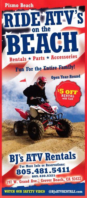 BJ's ATV Rentals brochure thumbnail