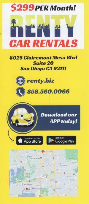 Renty Car Rental brochure thumbnail