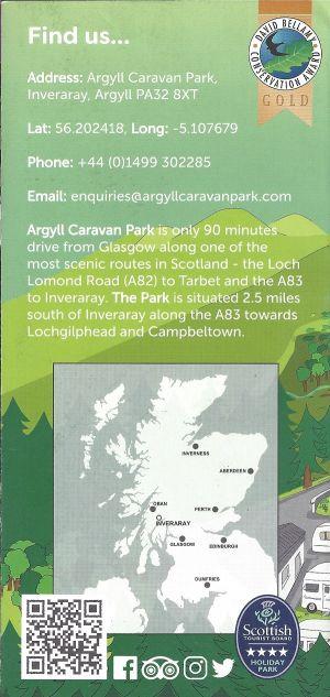 Argyll Caravan Park Inveraray brochure thumbnail