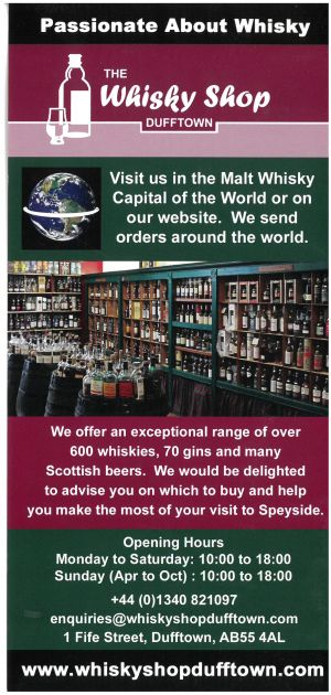 The Whisky Shop Dufftown brochure thumbnail