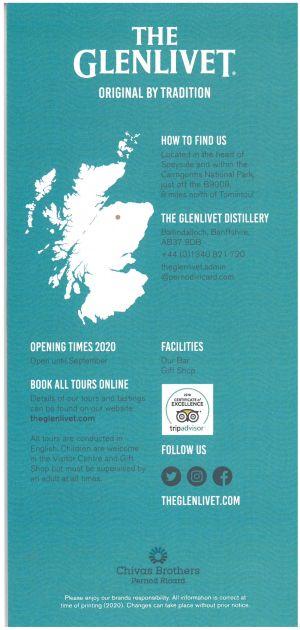 Glenlivet Distillery brochure thumbnail