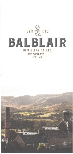 Balblair Distillery brochure thumbnail