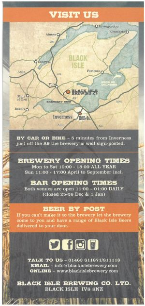 Black Isle Brewery brochure thumbnail