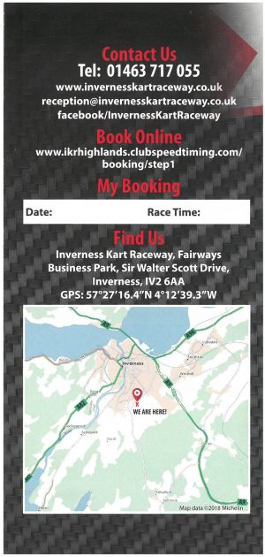 Inverness Kart Raceway brochure thumbnail