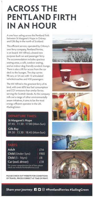 Pentland Ferries brochure thumbnail