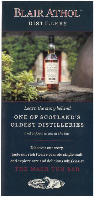 Blair Athol Distillery brochure thumbnail