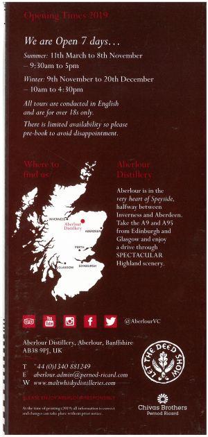 Aberlour Distillery brochure thumbnail