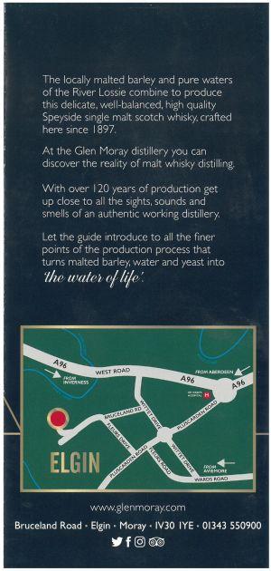 Glen Moray Distillery brochure thumbnail