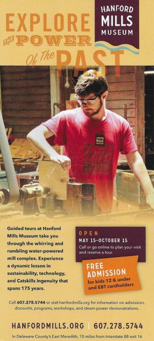 Hanford Mills Museum brochure full size