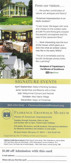 Florence Griswold Museum brochure thumbnail