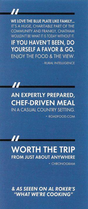 Blue Plate Restaurant brochure thumbnail