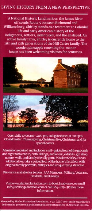 Shirley Plantation brochure full size