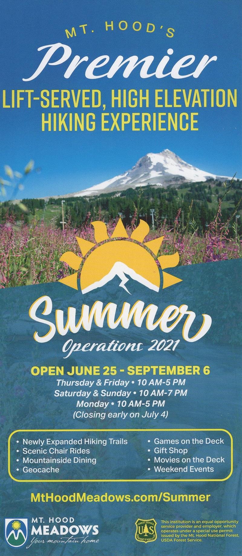 Mt Hood Meadows brochure thumbnail