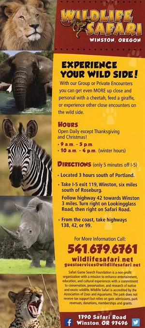 Wildlife Safari brochure thumbnail