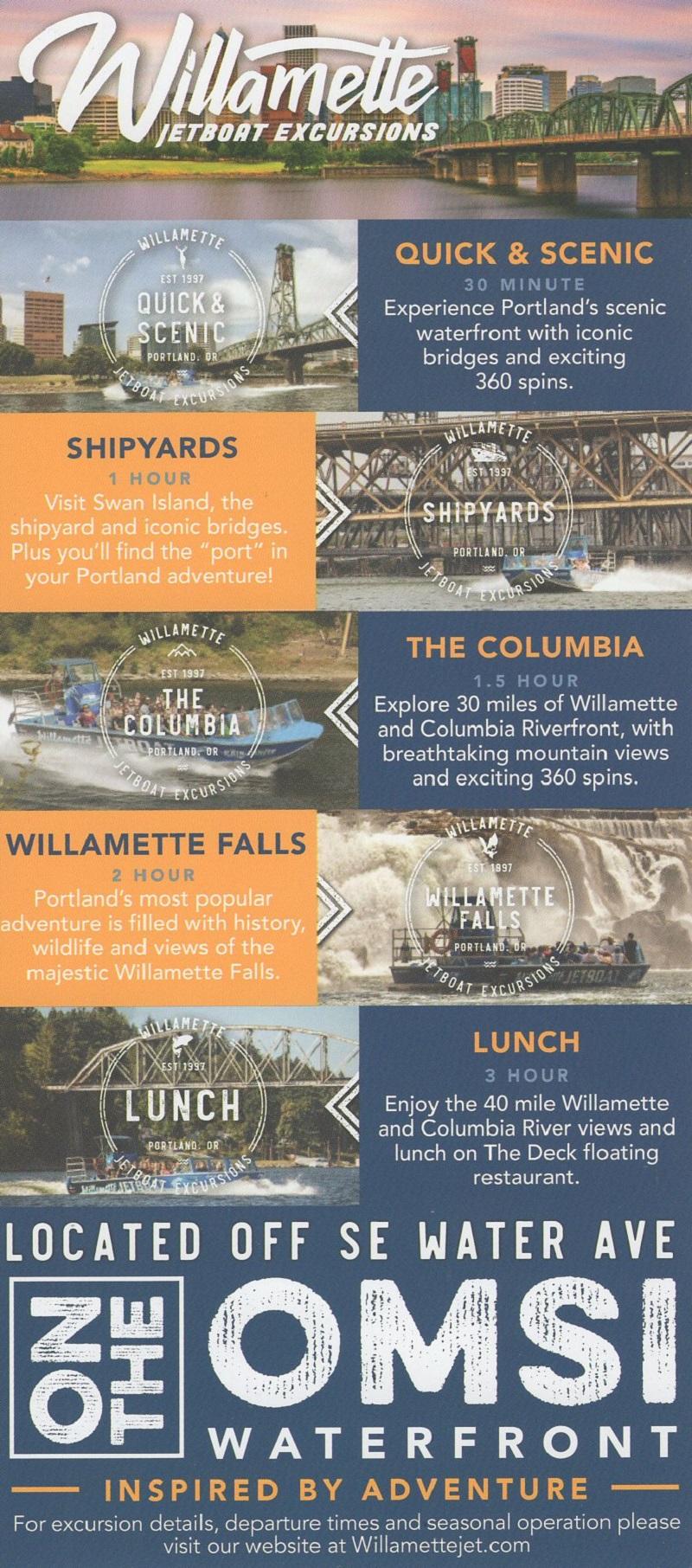 Willamette Jet Boats brochure thumbnail