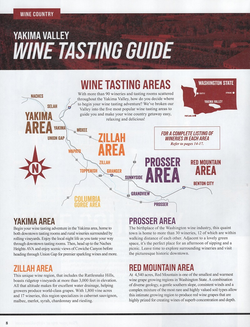 Yakima Valley Offical Visitor Guide (TM) brochure thumbnail