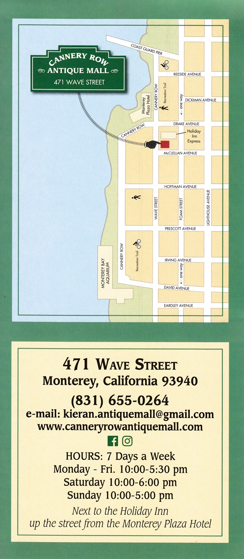 Cannery Row Antique Mall brochure thumbnail