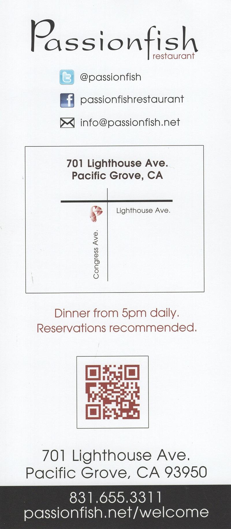 Passionfish Restaurant brochure thumbnail