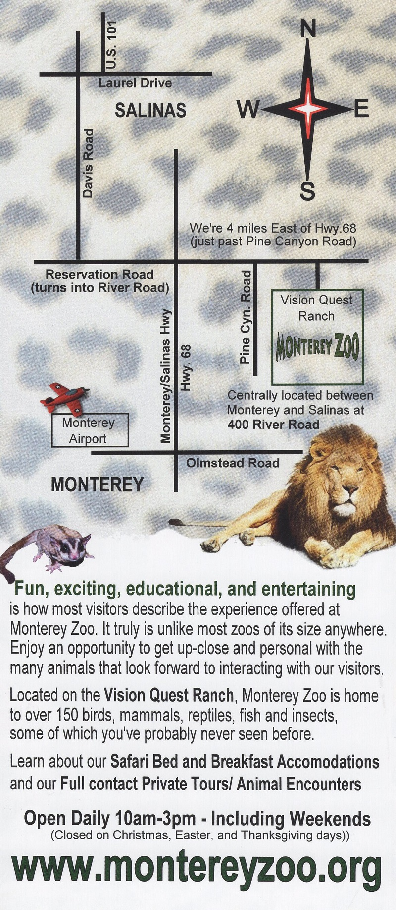 Monterey Zoo brochure full size