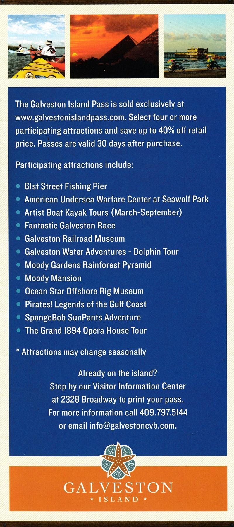 Galveston Island Pass brochure thumbnail