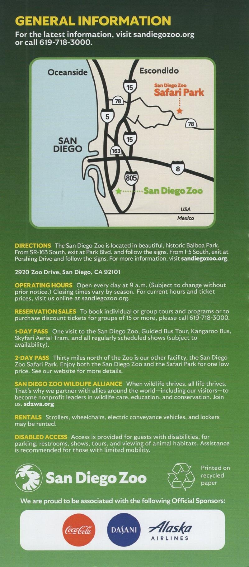 San Diego Zoo brochure thumbnail