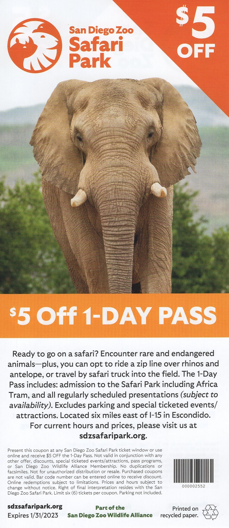 San Diego Zoo Discount Coupon brochure thumbnail