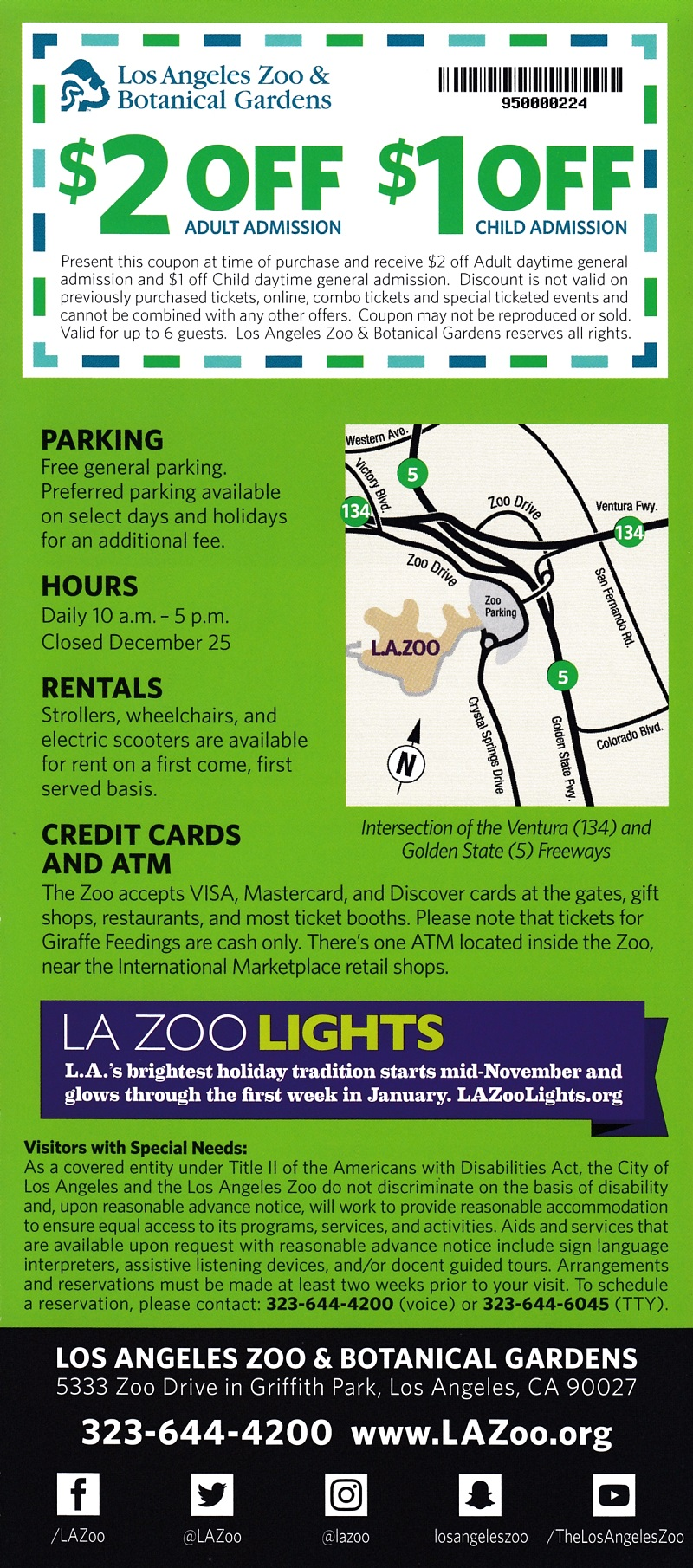 Los Angeles Zoo brochure thumbnail