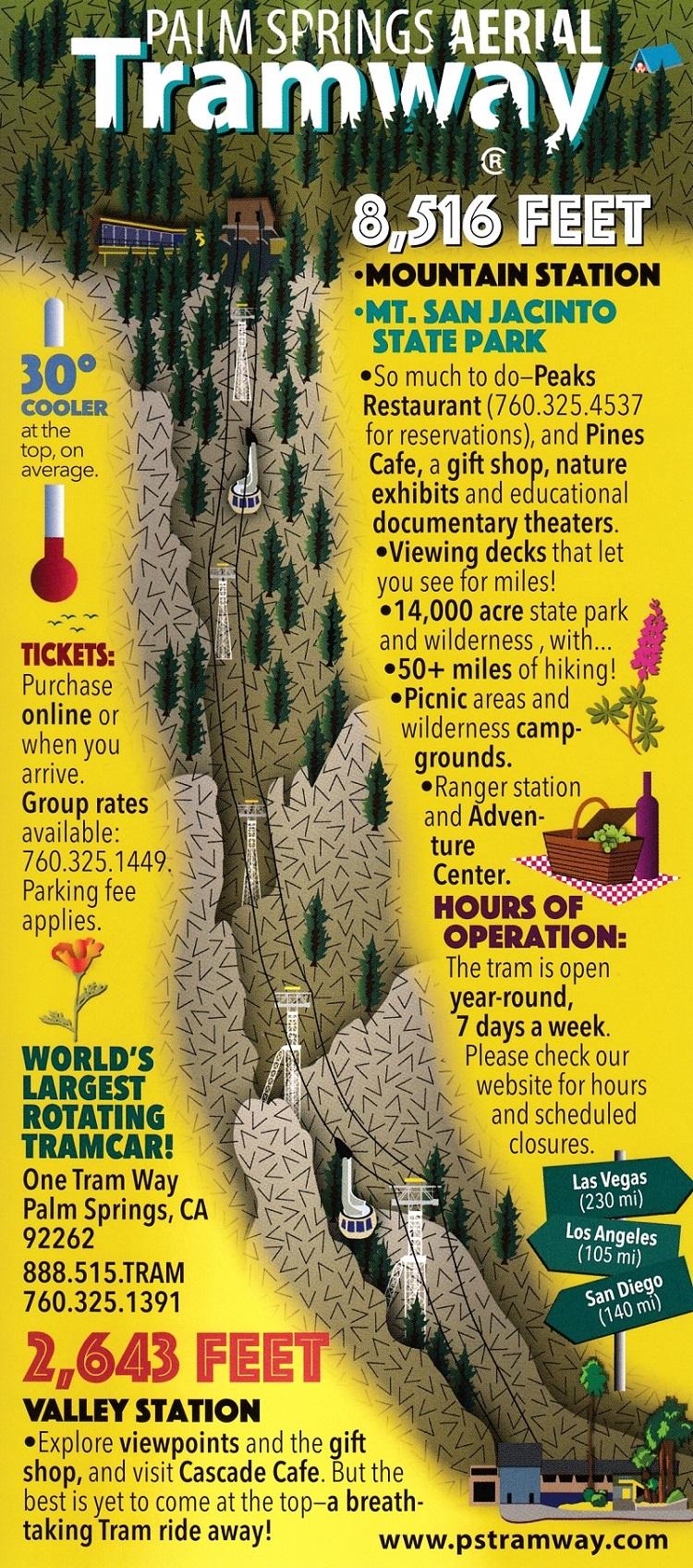 Palm Springs Aerial Tramway brochure thumbnail